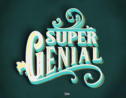 Super Génial - typographie