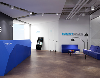 office concept of company behance