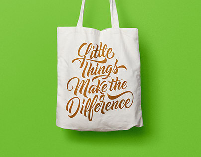 Lettering Tote Bags