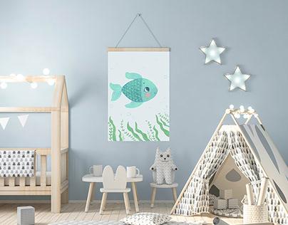 Children's nursery posters