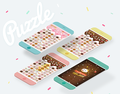 Interface Design Puzzle Donut Game