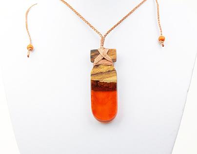 Pounamu Minimalist Resin Necklace