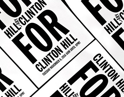 Clinton Hill For Hill Clinton For Clinton Hill