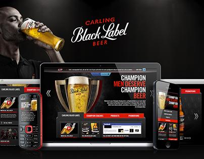 Carling Black Label - Website