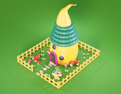 Mushroom village House.