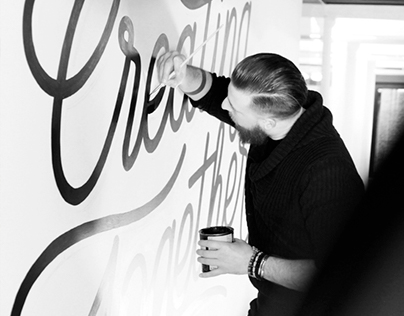 Lettering Mural - Creating Together