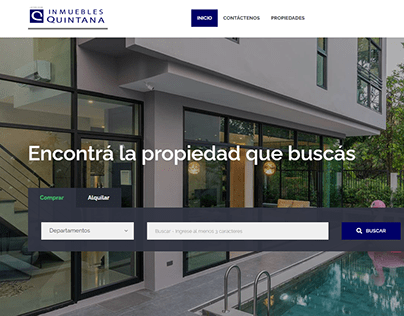 Inmuebles Quintana Desarrollo Web Wordpress
