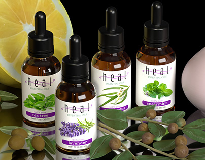 Essential Oils 3D Product Image