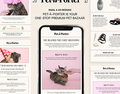Pet-à-Porter Emails & Ads