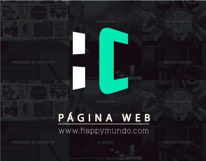 Página Web Happy Corp. LTDA.