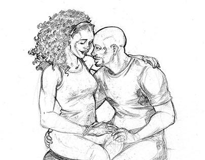 Superhero Valentine Sketches