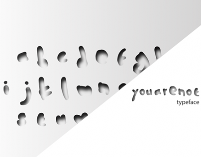 """""""Youarenot"""", a free typeface by Design Individuals."""