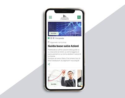 News website UI details (mobile)