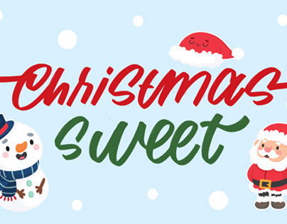 Christmas sweet day font