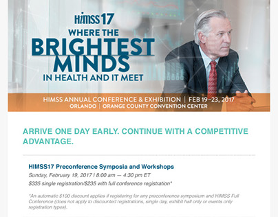 HIMSS17 Preconference Email Newsletter