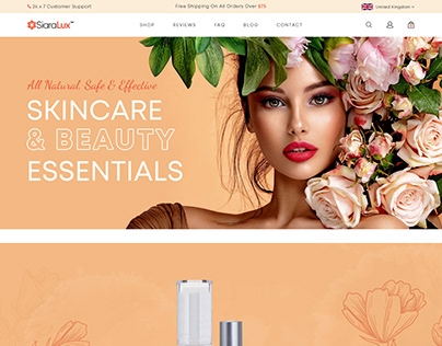 Beauty Product Website Design