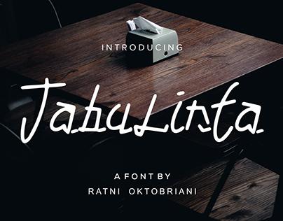 Tabulinta - A Unique font