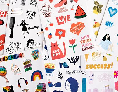 BAN.DO - Illustrations, 2019/20 Sticker Book & Planner
