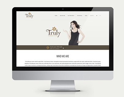 Truly Beauty Center Web Design