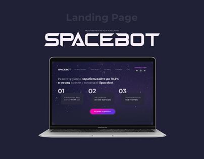 Landing page Spacebot
