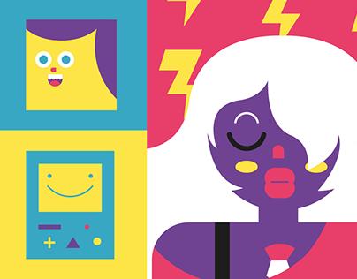 Cartoon Network Calendar Design