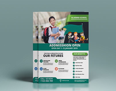 school addmission flyer