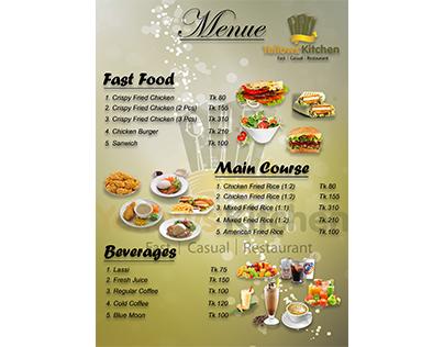 Yellow's Kitchen's Food Menu