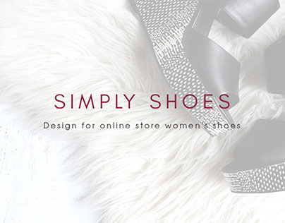 """Online store """"SIMPLY SHOES"""""""