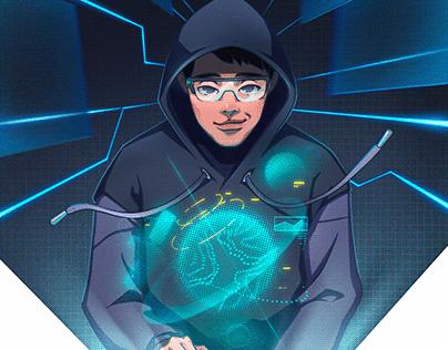 Champion illustrations of Facebook internal hackathon