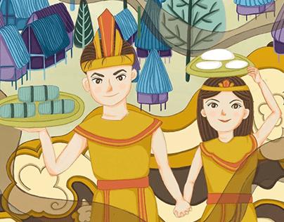 Story of Vietnamese rice cake - Vietnamese folktale