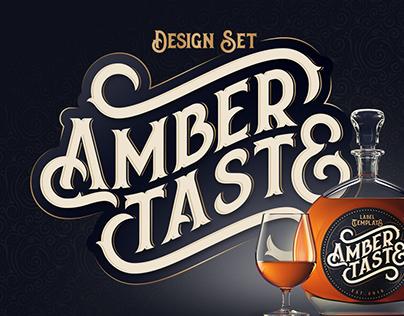 Amber Taste Font, Label, Mockup!