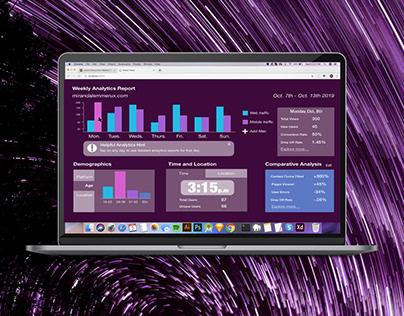 Daily UI #018 - Analytics Dashboard