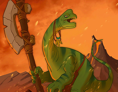Brachiosaur Warrior