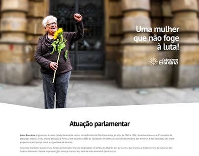Site: Luiza Erundina, Dep. Federal (PSOL/SP)