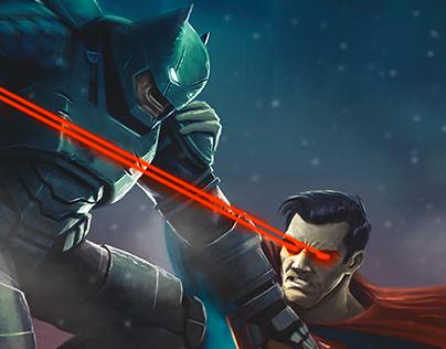 Batman vs Superman Illustration