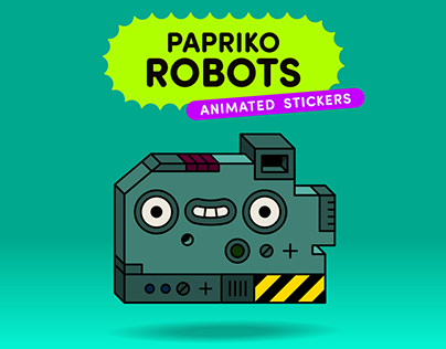 PAPRIKO Robots - Animated Stickers