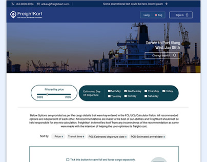Shipping freight company website design