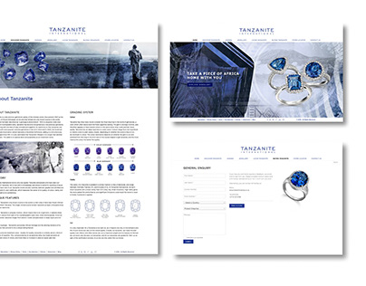 Tanzanite International Web and instore elements