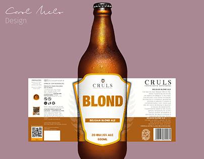 Re-design Blond - Cruls Cervejaria