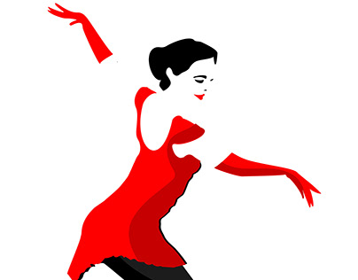 Motion {Figure skater-girl, woman in red}.