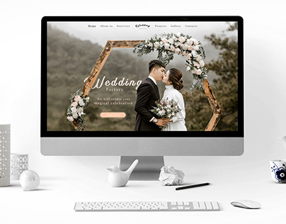Landig page / Wedding Factory