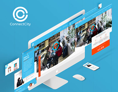 ConnectCIty Logo and Landing Page