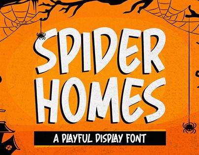 Spider Home - Playful Display Font