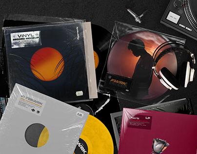 Retro Vinyl Record Mockup
