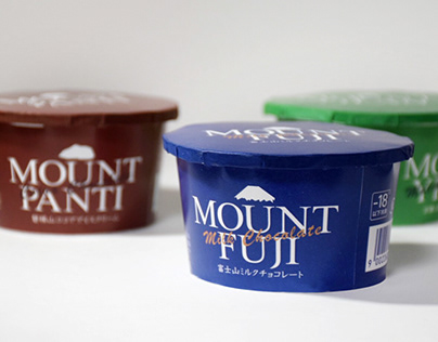 Chocolate mountain ice cream package