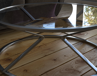 Coffee Table on a Wooden Floor