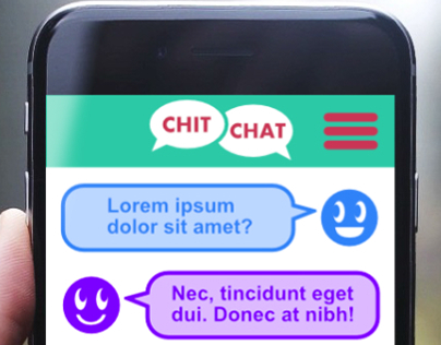 Chit Chat app UI