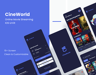 Online Movie Streaming App Concept