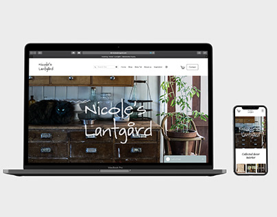 Nicole's Lantgård - Identity Design - Logo - Web Design