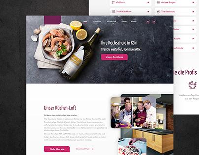 Sneak Peak: Kölner Kochschule Webdesign